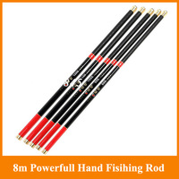Top quanlity wholesale By DHL/EMS carbon hand rod 8.0M 10 segments long freshwater hand fishing rod stream rod fishing tackle