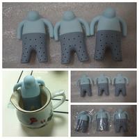 Wholesale 5pcs/lot Fashion Mr Tea Infuser Loose Leaf Strainer Tea Bag Mug Filter Spice Fred (OPP bag package)