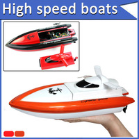 freeshipping  Summer model Fad 4CH  RC Remote Control High Speed Racing Boat Rechargeable Kids Gifts Red or Orange