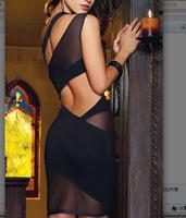 Lady Lingerie 2014 Women HOT Sexy Chiffon Lace Transparent Underwear Set Nightgown Sleep Suit HTQQY-029