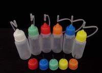 Wholesale 200pcs/lot Needle Bottle PE 20ML Plastic Dropper Bottles With Screw Metal Needle Cap By DHL Free Shipping