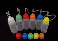 Wholesale 200pcs/lot Needle Bottle PE 20ML Plastic Dropper Bottles With Screw Metal Needle Cap Free Shipping