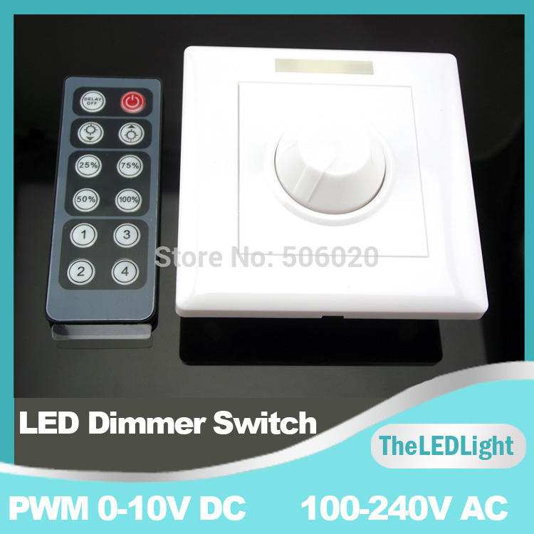 Infrared 12-Key Triac Dimmer 110V 220V Knob PWM 0-10V Triac LED Dimmer Switch for E27 GU10 Dimmable Bulb/Spotlight/ Downlights(China (Mainland))