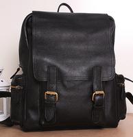 Genuine leather double-shoulder big bag vintage women backpack leather women travel bags genuine leather backpack
