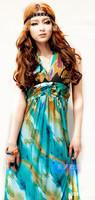 2014 new fashion spring and summer dress Beach dress bohemia dress full milk silk one-piece dress halter-neck plus size