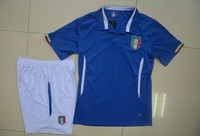 2014 world cup Italy home blue kids soccer football jersey +Shorts best quality Italy Children soccer uniforms jerseys