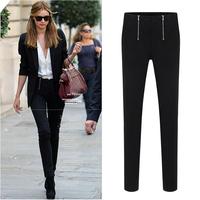 2014 new spring European style women jeans elastic plus size base pencil pants trousers women free shipping d197