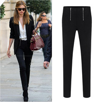 2014 new spring European style women jeans elastic plus size base pencil pants trousers women free shipping d197