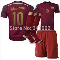 Russia Home Soccer (Jersey+short+sock) 2014 world Cup Full Set,2014-2015 football jersey + Socks