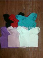 New Sexy lady black/red/lavender/white/apricot/Fluorescent green v neck off shoulder CELEBRITY brand HL bandage vests tank tops