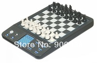 1 pc/lot Powerbrain computer chess set, great for travel, Magnetic, 8 games included,LCD display free shipping