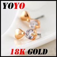 Fashion Direct Selling Freeshipping Earrings 2014 New Jewelry Women Earring Bijoux 18k -plated Bowknot Zircon Earrings,hm002
