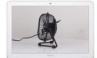 Mini Portable Black USB Cooler Cooling Fan aluminum blades computer mini silent usb small fan Free shipping