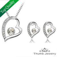 JS S069 Necklaces Earrings Sets Silver Plated Sets Nickel Free Fashion Jewelry Sets Wholesale Free Shipping
