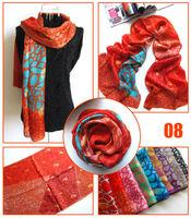 [Silk Jarcquard Scarf]50cm*170cm Print Long Scarf/100% Natural Silk/Flower Jacquard Scarves/New 2014 Spring Summer/9 Colors