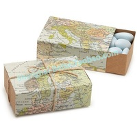 Free Shipping 336pcs World Map Favor Box TH031-A0 Unique Wedding Gift Ideas, Party Decoration
