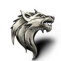 100% 3D Metal individual wolf car styling ,Car Grill Emblem Badge Logo car sticke
