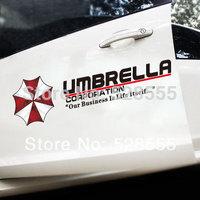 Fashion  car styling resident evil umbrella car sticker,reflective decor car stickers for car door