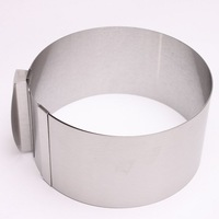 1PC Stainless Steel Size Adjustable Circle Mousse Ring 16-32cm 1pc Retractable Cake Mould Mold Baking Tool Set Bakeware 670630