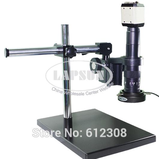 USB VGA AV TV Digital Industry Microscope Camera Set Dual-arm Heavy Duty Boom Large Stereo Table Stand 180X C-MOUNT Lens PCB Lab(China (Mainland))