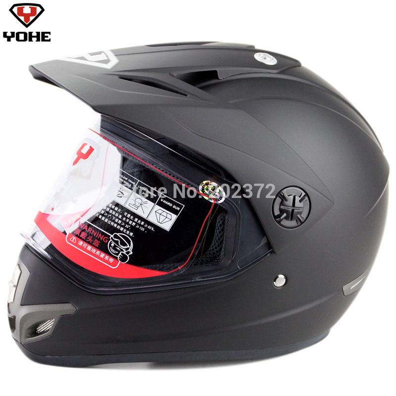 matte black Motorcycle off-road dual-use yh630k YOH 630 Motorbike Full face motorcross helmets(China (Mainland))