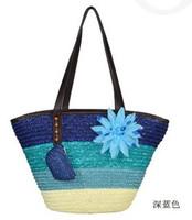 2014 beach bag fashion straw women's bohemia summer beach bag shoulder bag