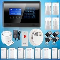 Free Shipping ! New Touch Keypad Wireless GSM SMS TEXT Autodial Smart Home Security  Alarm System Smoke Sensor  Emergency Button