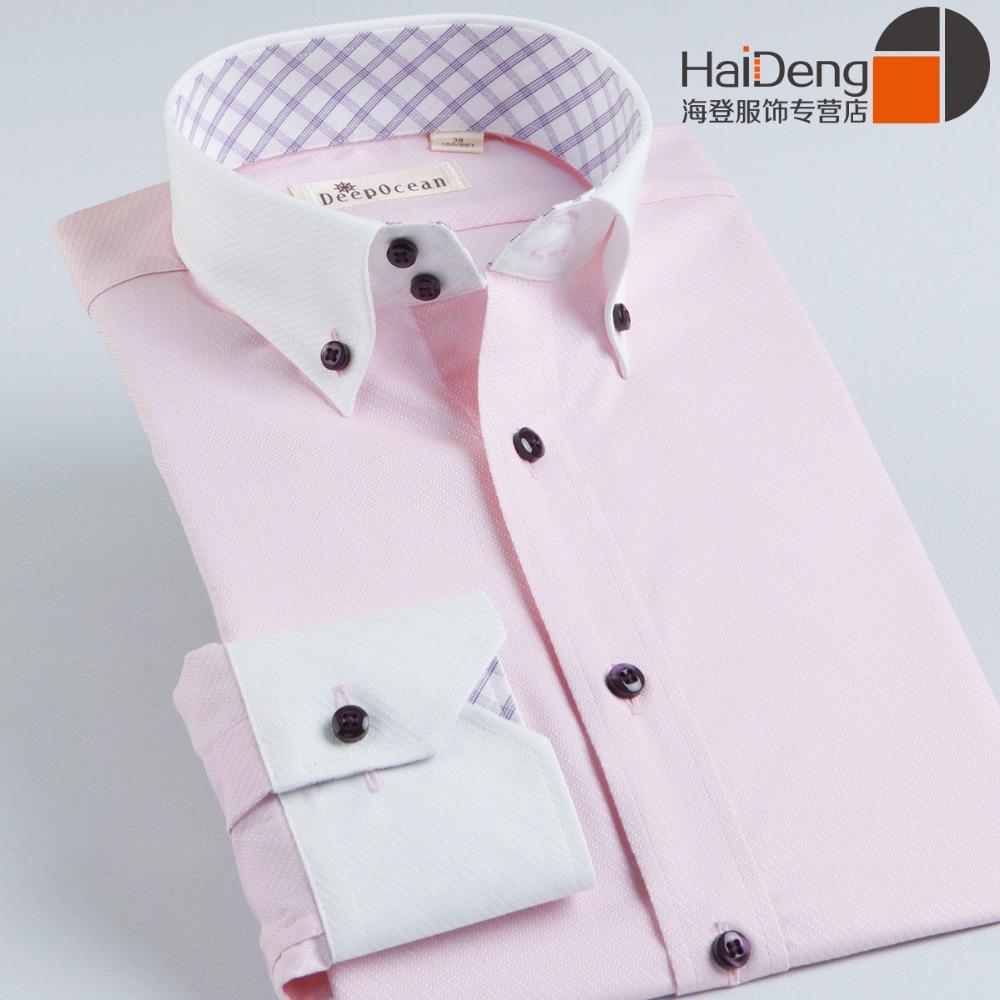 Blue Pink White Collar