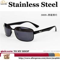 3009 High Quality Stainless Steel Frame Brand Glasses Men Rectangle,Latest Fashion Personality Sunglasses Men Designer 2015