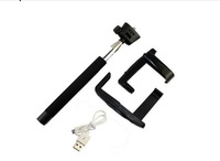 F08016 Wireless Bluetooth Rectractable Handheld Monopod Tripod Black for  Android Mobile Phone + usFreeShip