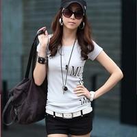 Hot sale !!! Free shipping good quality women T shirt short sleeve t-shirts 2014 summer top tees