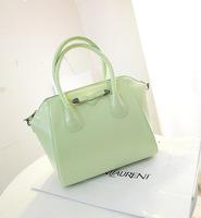 New 2014 new women  leather handbags spring bow multicolored macarons smile shoulder bag bolsas