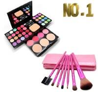 Cosmetic makeup palette one set include 24 eye shadow plate 8 lipstick 4 blush 3 powder 7 brush set make-up set combination