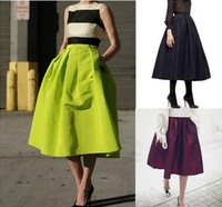 2014 Hot Sale High Quality Neon Color Long Skirt Fashion Ball Gown Skirts Womens Classic Vintage Women Skirt
