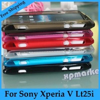 Free Shipping Transparent TPU Silicone Gel Case Cover For Sony Xperia V VC VL LT25i LT25c TP-20 UT-SO-LT25I