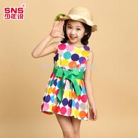 Children'S Clothing Female Child Summer 2014 Child one-piece Dress Summer Female Child Princess Dress Yarn