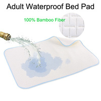 100% Bamboo Fiber Reusable and Waterproof Sheet Protector Breathable Adult Incontinence Bed Pad for Incontinence (LD-08)