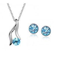 Hot crystal accessories set bright necklace- a31b72 QQ Jewelry Christmas gift New Year gift Valentine's Day gift
