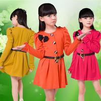 2014 female child children's clothing one-piece dress child spring and autumn princess dress child women's spring skirt