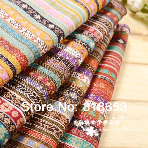 New 2014 diy handmade cotton calico cloth ethnic bohemian style interior fabrics National wind cloth Linen fabric 36-21(China (Mainland))