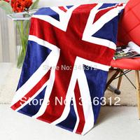 100% cotton bath towel national flag high quality absorbent beach towel super large