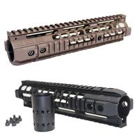 "For Airsoft AR15 M4 M16 Carbine Rifle Aluminum Quad Handguard  Picatinny Rail Free Floating 7.5"" 10"" 12.6""  W/ QD Swivel Housing"