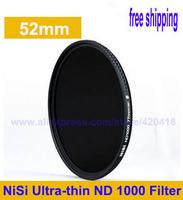 Free shipping+NiSi 52mm ND1000 Optical Slim Neutral Density ND 1000 Lens Filter for SLR DSLR 10 Stops 52 mm