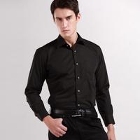 Free Shipping Mens Business Formal Shirt Mandarin Long-sleeve Solid Color Plain Shirts Multicolor Diamond Buckle Dress Shirt