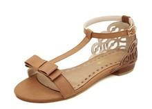 2014 nuovo dolce freeshipping pu adesivo donne casuali sandali cunei arco scarpe confortevoli appartamenti offerta speciale  (China (Mainland))