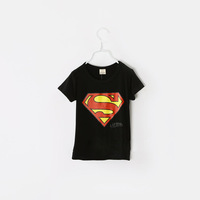 Children's clothing child summer short-sleeve T-shirt super man short-sleeve male child casual t-shirt