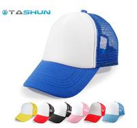 Unisex Free Custom Ink Heat-transfer Logo Printing Blank Hat Baseball Cap School Students Child Adult Truck Cap Mesh Plaid Hat