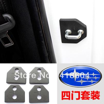 free shipping SUBARU forester OUTBACK Impreza legacy XV Car door lock protection cover for SUBARU car model 4pcs a lot(China (Mainland))