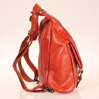 Women Genuine Leather First Layer Cowhide Brown Casual Leisure Messenger Tote Backpack for Party Outdoor#HC033