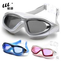 Free shipping 2014 fashion men & women myopia swimming glasses boy & girl waterproof anti-fog goggles male & female swim eyewear